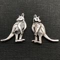 Kangaroo stud earings - sterling silver 22mm Aussie souvenir Australian gift