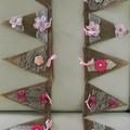 Burlap Pink Bunting