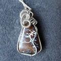 Australian Boulder Opal Sterling silver wire wrapped