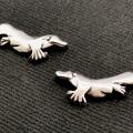 Platypus stud earings - sterling silver 22mm