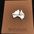 Australia souvenir- lapel/hat pin, solid silver