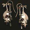 Possum hanging earings - sterling silver 30mm plus hook