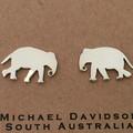 Small Elephant Earrings- sterling earrings, cute earrings