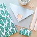 Green Leaf Handmade Stationery Set