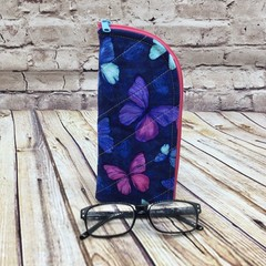 Blue Butterflies  Zipper Pouch/Glasses Case