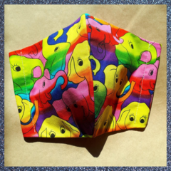 Large fun print masks for adults