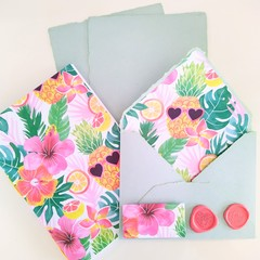 Summer Pineapple Handmade Stationery Set