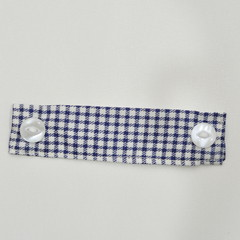 The Navy Checkered Ear Saver for Ear Loop Face Masks