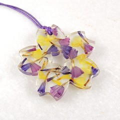 Statice flower collection - flower shape necklace