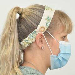 Vintage Green Love Headband Ear Saver for Ear Loop Face Masks