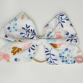 Blue Autumn Bow Ear Saver for Ear Loop Face Masks