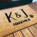 Customised door mat