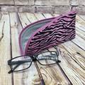 Pink Zebra Stripe  Zipper Pouch/Glasses Case