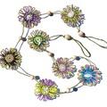 Custom listing for 'MEGAN' - Natural Fibre Flower Hanging Garland in Boho Style
