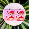 Red Doll Dangle Earrings