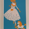 Greeting Card - 'Lady with Poodle'
