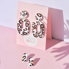Leopard Print Statement Earrings