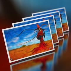 Gülpembe & Lone Poppy Mother - Mini Cards