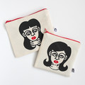 Screen Printed Girls/Ladies Zipper Pouch • Makeup Bag • Water Resistant Lining