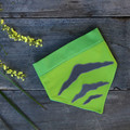 Medium - Tasmanian Tiger Pet Bandana - Loud Lime