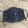 Cotton Face Mask 3 Layers  *Blue Polka Dot*