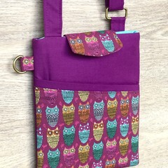 Shoulder Bag - Cross Body Bag - Multicoloured Owls