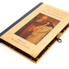 The Merchant of Venice notebook - Shakespeare - notebook made from a book