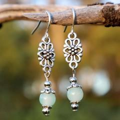 Delicate Aqua Drop Earrings