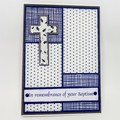 Baptism Remembrance - Dark Blue and White