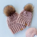'TO THE MULBERRY BUSH' BEANIE SET - Mummy & Me (Adult & child fits 12-36 months)