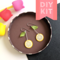 Make your own Lemon Slice Earrings - DIY Craft Kit & How to video