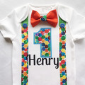 The Hungry Caterpillar Theme Baby Boys 1st Birthday Bodysuit & Party Hat