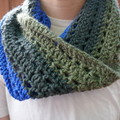 Blue, Grey and Green Cowl