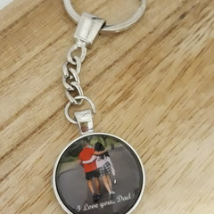 Personalised Photo key chain keyring, Aussie Father's Day gift