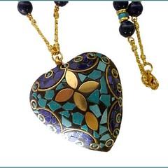 Nepal style pendant and handmade chain