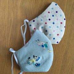 Face Masks - Polka Dots/Cats - Reusable Fabric Masks
