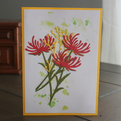 BLANK CARD  AUSTRALIAN NATIVES  (Postage Included)