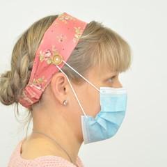 Vintage Pink Love Headband Ear Saver for Ear Loop Face Masks