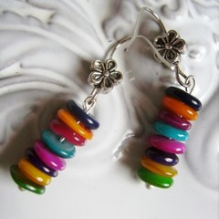 rainbow drop EARRINGS earring may vary as chips could slightly vary in size