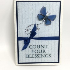 Inspirational Card - Count Your Blessings