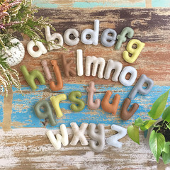 Felt alphabet, homeschool, learning