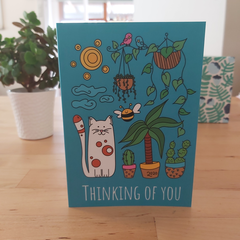 Thinking of you - A6 Greeting Card