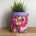 Small fabric planter | Storage basket | Pot cover | ABSTRACT COLOURS