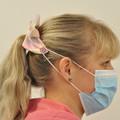 Neutral Flowers Bow Ear Saver for Ear Loop Face Masks