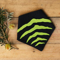 Medium - Tasmanian Tiger Pet Bandana - Black and Lime