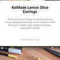Make your own Lemon Slice Earrings - DIY Craft Kit & How to video