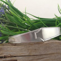 Art Deco SPOON BRACELET, Sterling Silver Cuff, Upcycled from two Vintage Spoons.
