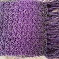 Ladies Hand crocheted Scarf- With bling