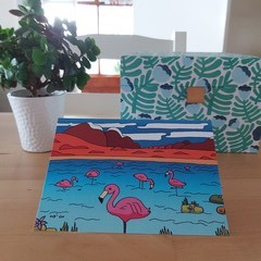 Flamingo - A6 Greeting Card