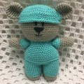 Teddy Bear: READY TO POST, Frontline Hero Bear, Crochet Toy